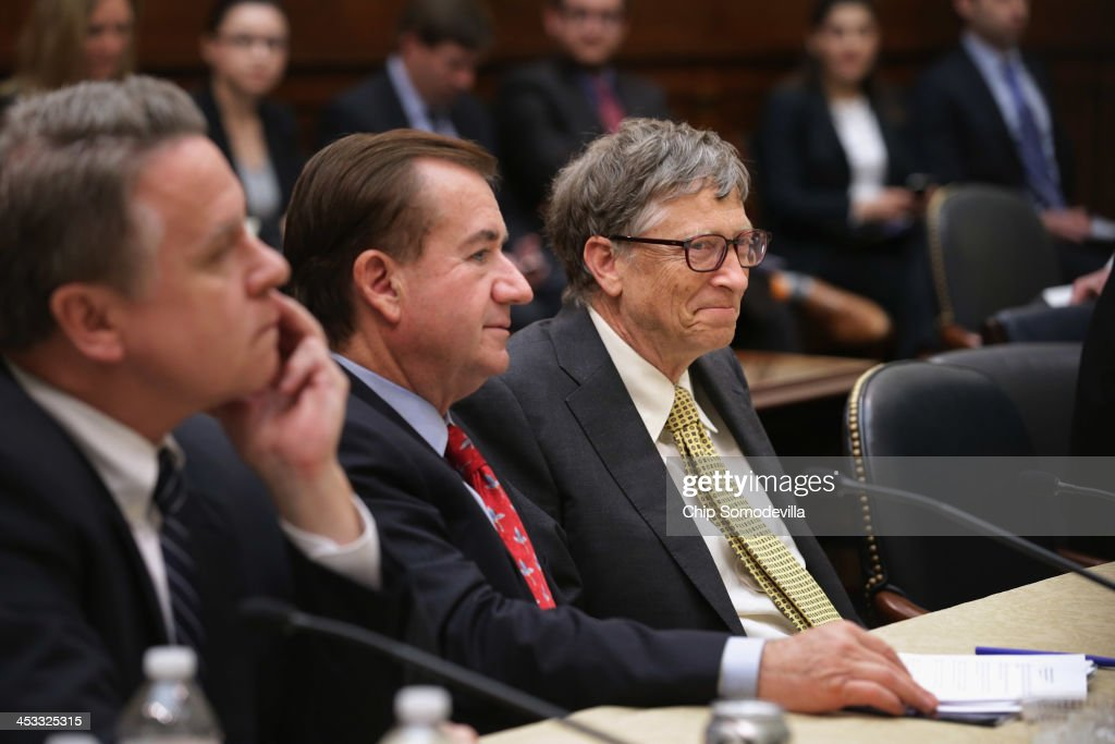 Bill Gates Meets With House Foreign Affairs Cmte Chairman Royce : News Photo