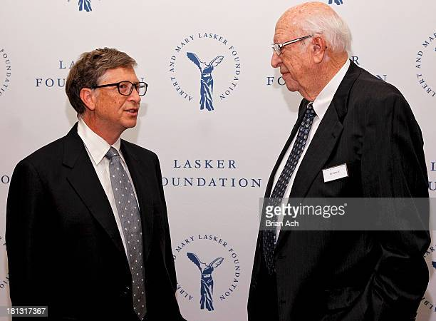 Bill Gates of The Gates Foundation, and Bill Gates Sr. Are seen during the The Lasker Awards 2013 on September 20, 2013 in New York City.