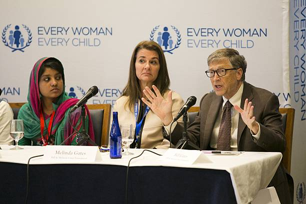Bill Gates R Speaks As His Wife Melinda C And Anoyara A Youth