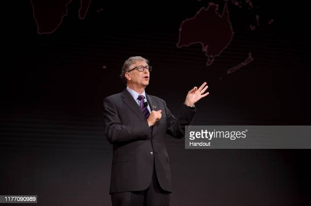 Bill Gates speaks at Goalkeepers 2019, at Jazz at Lincoln Center on September 25, 2019 in New York City. Goalkeepers is a multiyear campaign...