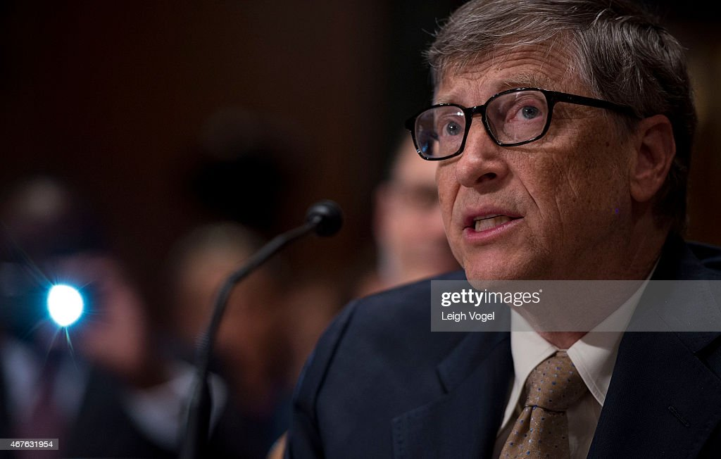 Bill Gates speaks during the Diplomacy, Development, And National Security Hearing on March 26, 2015 in Washington, DC.