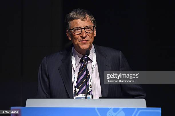 Bill Gates speaks during the Forbes' 2015 Philanthropy Summit Awards Dinner on June 3 2015 in New York City