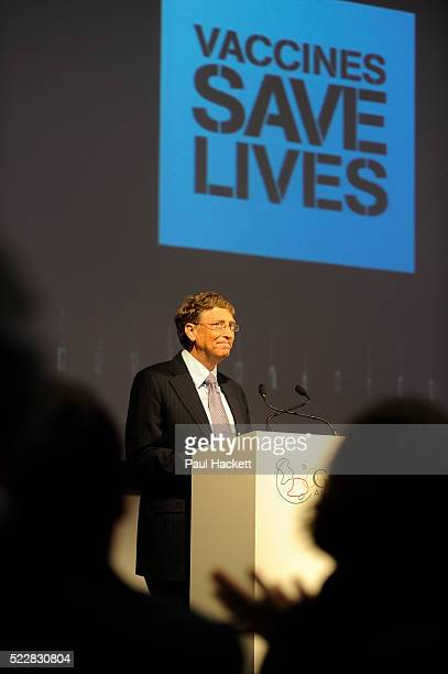 Bill Gates speaks to Global leaders gather for the Gavi Alliance conference to drive a new forceful impetus to immunisation efforts in the worlds...