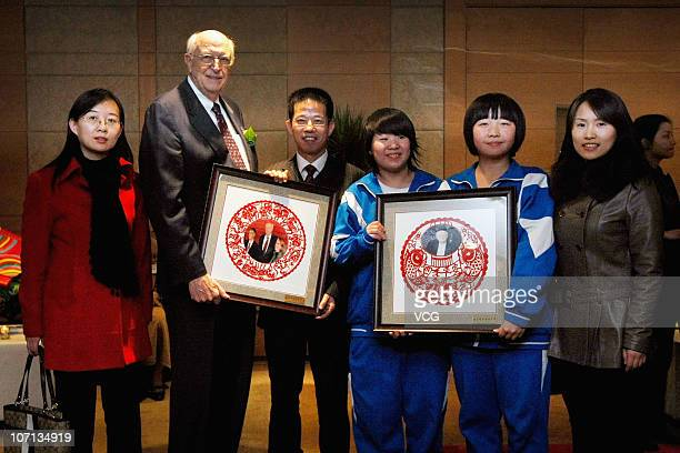 Bill Gates Sr., father of Microsoft Inc. Founder Bill Gates, poses whilst attending the China Alumni Association of the University of Washington at...