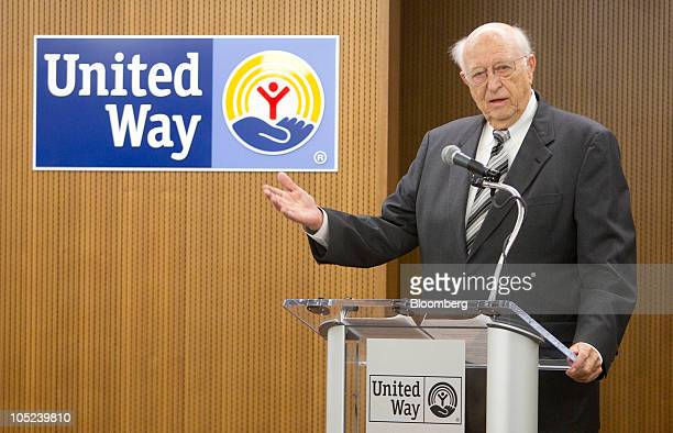 Bill Gates Sr., father of Microsoft Inc. Founder Bill Gates, speaks at the dedication ceremony of the United Way Worldwide Mary M. Gates Learning...