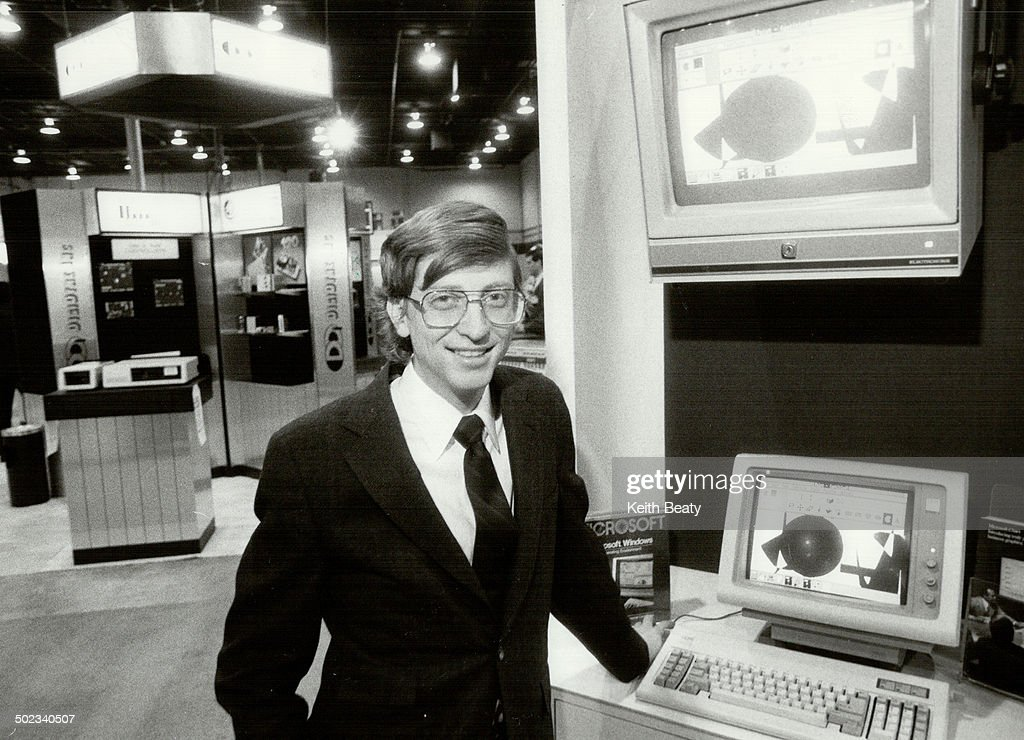 Bill Gates: The 30-year-old chairman of Microsoft Corp. wants to put his company's software in compu : News Photo