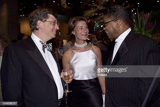 Bill Gates wife Melinda Herbie Handcock during Experience Music Project Opening Gala at Experience Music Project in Seattle Washington United States