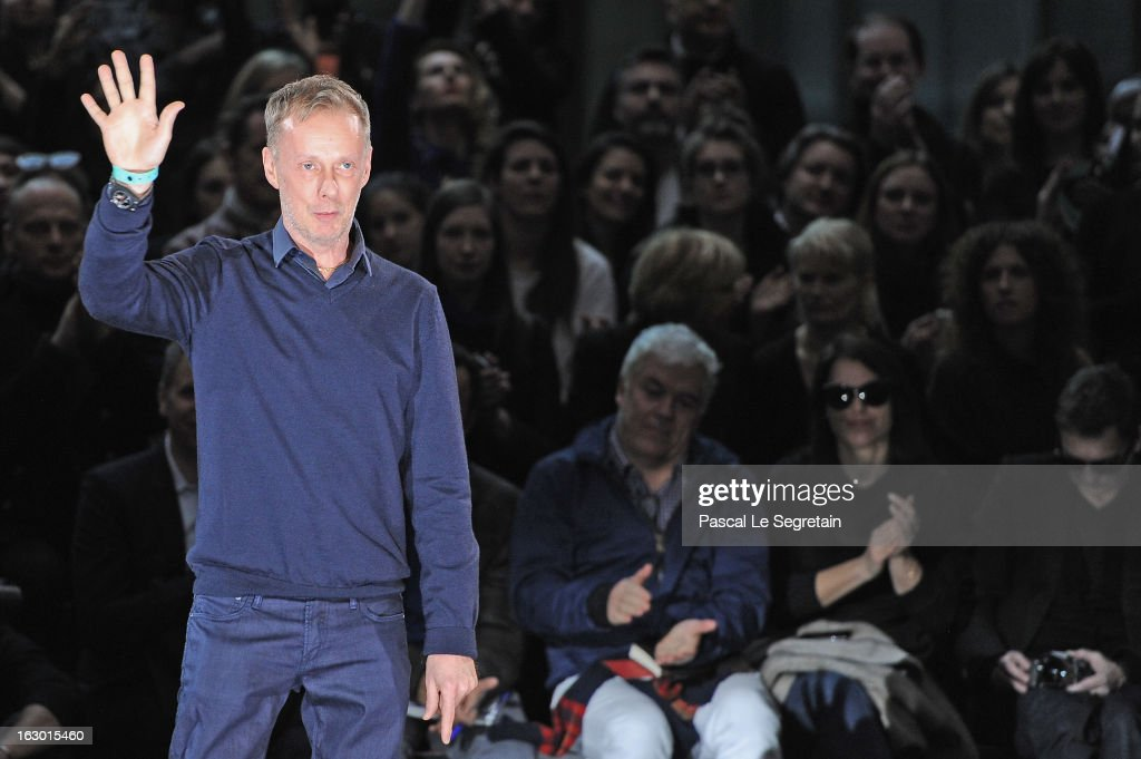 Bill Gaytten acknowledges applause following the presentation of the John Galliano Fall/Winter 2013 Ready-to-Wear show as part of Paris Fashion Week at Le Centorial on March 3, 2013 in Paris, France.