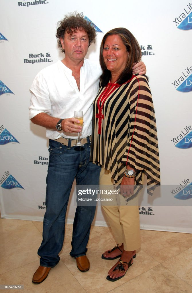 Bill Ghitis and Fern Mallis during Sunglass Hut Swim Shows Miami Presented by LYCRA - VIP Lounge - Day 3 at Raleigh Hotel in Miami Beach, Florida, United States.