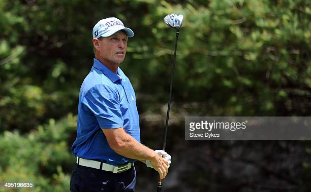 Bill Glasson hits his drive on the sixth hole during the final round of the Principal Charity Classic at the Wakonda Club on June 1 2014 in Des...