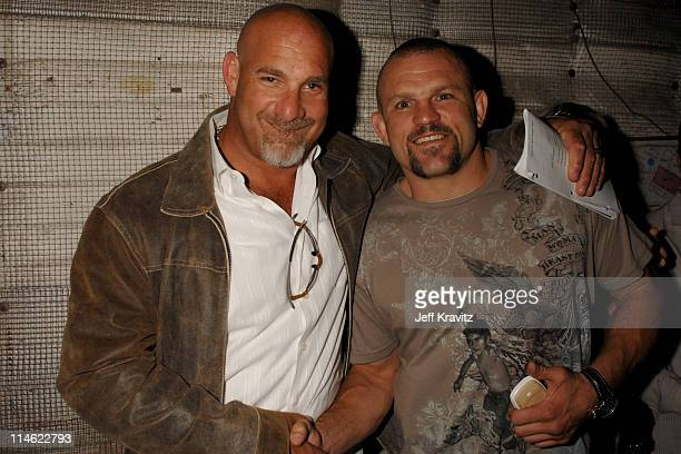 Bill Goldberg and Chuck Liddell during First Annual Spike TV's Guys Choice Backstage and Audience at Radford Studios in Los Angeles California United...