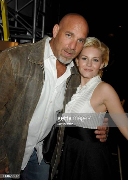 Bill Goldberg and Elisha Cuthbert during First Annual Spike TV's Guys Choice - Backstage and Audience at Radford Studios in Los Angeles, California,...
