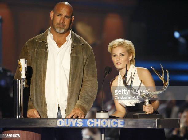 Bill Goldberg and Elisha Cuthbert present Biggest AssKicker award