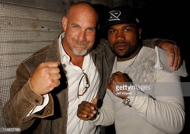 Bill Goldberg and Quinton 'Rampage' Jackson during First Annual Spike TV's Guys Choice Backstage and Audience at Radford Studios in Los Angeles...