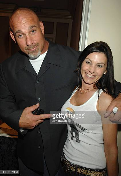 Bill Goldberg and Wanda Goldberg during Jennifer Lopez Attends the MTV Networks Winter 2007 TCA Press Tour in Los Angeles California United States