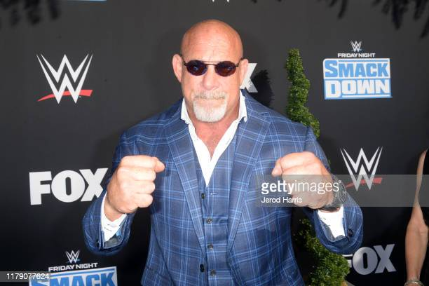 Bill Goldberg attends WWE 20th Anniversary Celebration Marking Premiere of WWE Friday Night SmackDown on FOX at Staples Center on October 04, 2019 in...