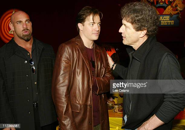 Bill Goldberg Brendan Fraser and Warner Bros President and COO Alan Horn