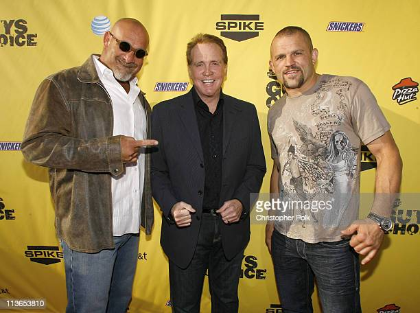Bill Goldberg Lee Majors and Chuck Liddell during First Annual Spike TV's Guys Choice Red Carpet at Radford Studios in Los Angeles California United...