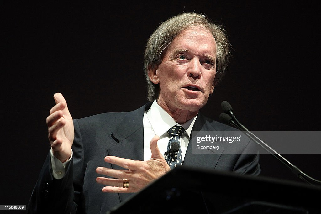 Bill Gross, co-chief investment officer of Pacific Investment Management Co., speaks at the Morningstar Investment Conference in Chicago, Illinois, U.S., on Wednesday, June 8, 2011. Gross, manager of the world's biggest bond fund, said stock markets will be 'on their own' once real interest rates can't go lower. Photographer: Tim Boyle/Bloomberg via Getty Images