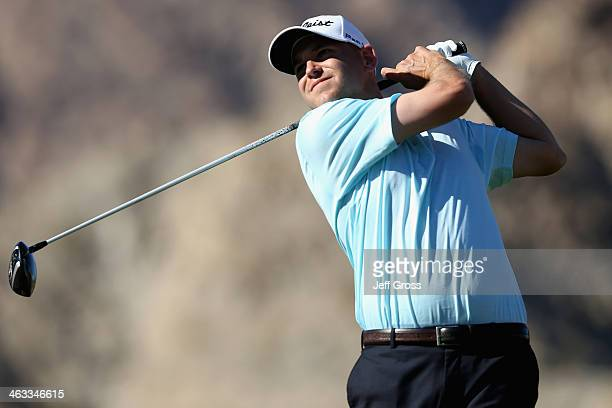 Bill Haas hits a tee shot on the fifth hole of the Jack Nicklaus Private Course at PGA West during the second round of the Humana Challenge in...