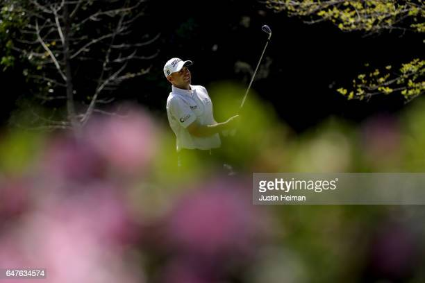 Bill Haas of the United States plays his tee shot on the seventh hole during the second round of the World Golf Championships Mexico Championship at...