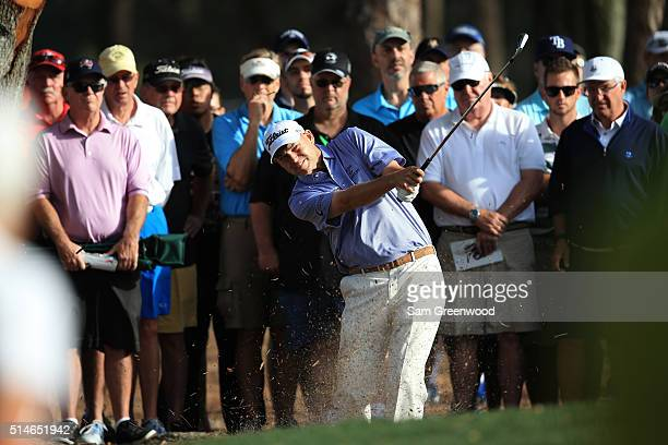Bill Haas plays a shot on the 11th hole during the first round of the Valspar Championship at Innisbrook Resort Copperhead Course on March 10 2016 in...