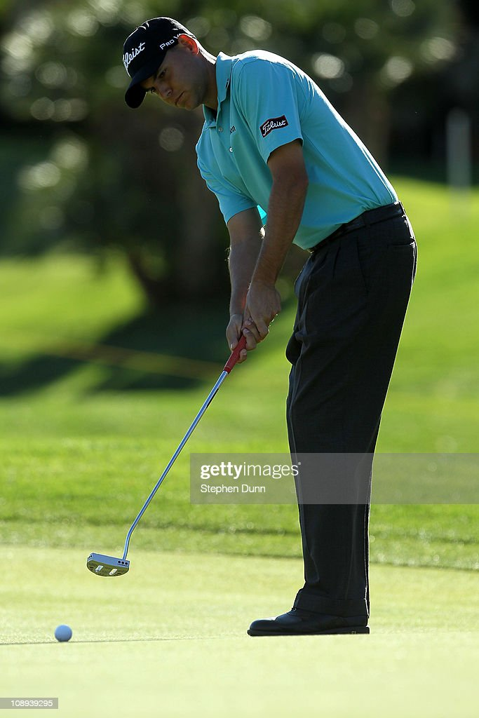 Bill Haas putts during the final round of the Bob Hope Classic on the Palmer Private Course at PGA West on January 23, 2011 in La Quinta, California.