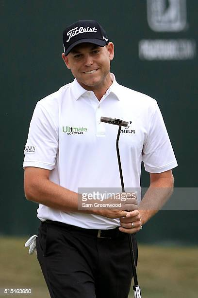 Bill Haas reacts after a missed putt on the 18th green during the final round of the Valspar Championship at Innisbrook Resort Copperhead Course on...