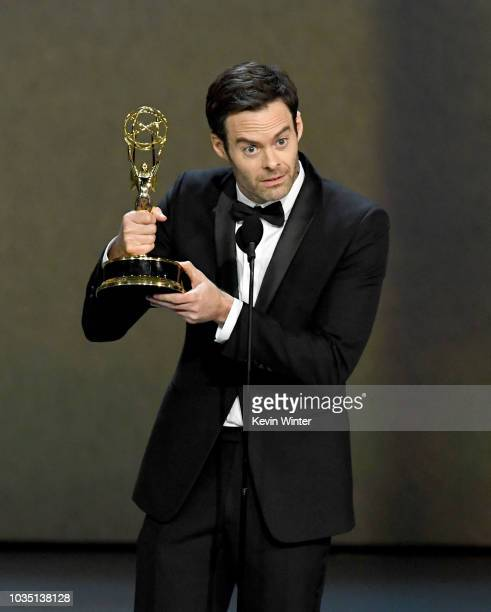 Bill Hader accepts the Outstanding Lead Actor in a Comedy Series award for 'Barry' onstage during the 70th Emmy Awards at Microsoft Theater on...