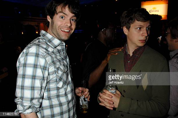 Bill Hader and Michael Cera during First Annual Spike TV's Guys Choice Backstage and Audience at Radford Studios in Los Angeles California United...