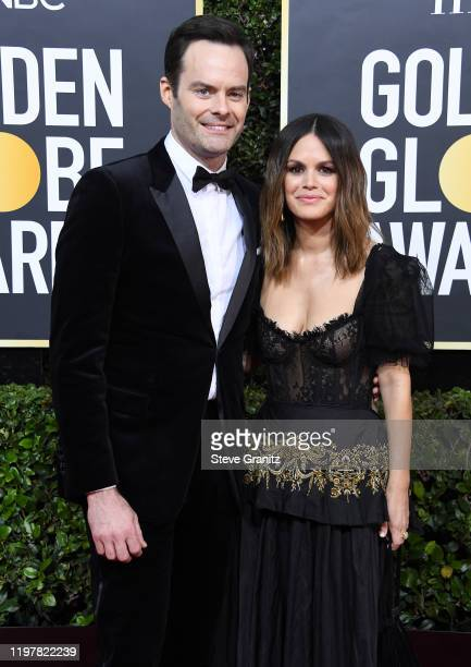 Bill Hader and Rachel Bilson arrives at the 77th Annual Golden Globe Awards attends the 77th Annual Golden Globe Awards at The Beverly Hilton Hotel...