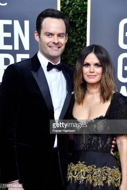 Bill Hader and Rachel Bilson attend the 77th Annual Golden Globe Awards at The Beverly Hilton Hotel on January 05 2020 in Beverly Hills California