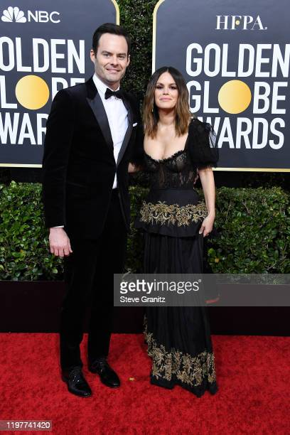 Bill Hader and Rachel Bilson attends the 77th Annual Golden Globe Awards at The Beverly Hilton Hotel on January 05 2020 in Beverly Hills California