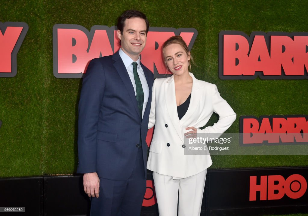 Bill Hader and Sarah Goldberg attend the premiere of HBO's