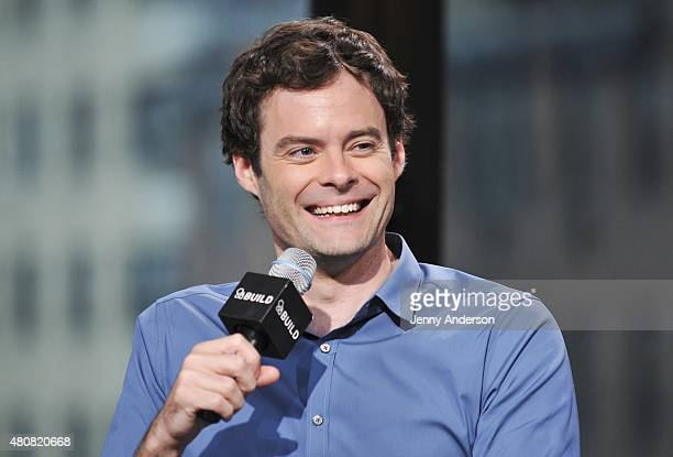 Bill Hader attends AOL BUILD Speaker Series to discuss his new film 'Trainwreck' at AOL Studios in New York on July 15 2015