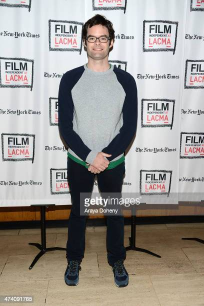 Bill Hader attends the Film Independent HFPA restoration tribute Shadow of a Doubt at Bing Theatre At LACMA on February 21 2014 in Los Angeles...