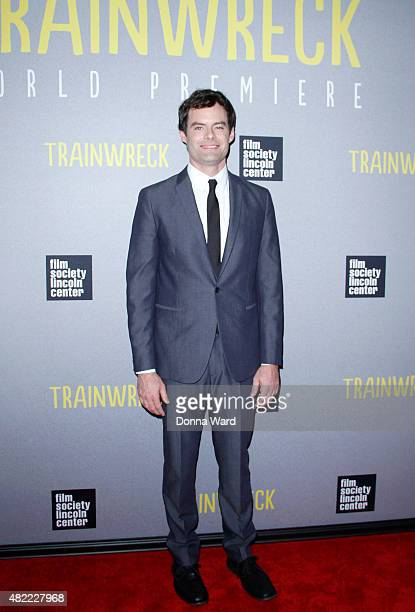 Bill Hader attends the 'Trainwreck' World Premiere at Alice Tully Hall on July 14 2015 in New York City