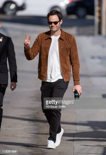 Bill Hader is seen at 'Jimmy Kimmel Live' on March 25 2019 in Los Angeles California