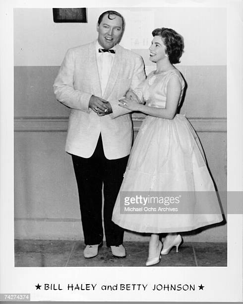 Bill Haley and Betty Johnson pose for a portrait circa 1960
