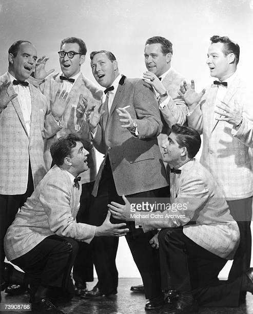 Bill Haley and His Comets Kneeling in front LR Al Rex Johnny Grande Back row LR Billy Williamson Rudy Pompilli Bill Haley Ralph Jones Franny Beecher...