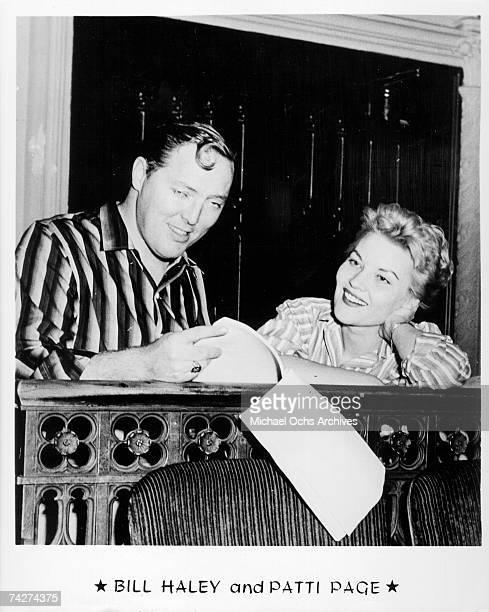 Bill Haley and Patti Page pose for a portrait circa 1960