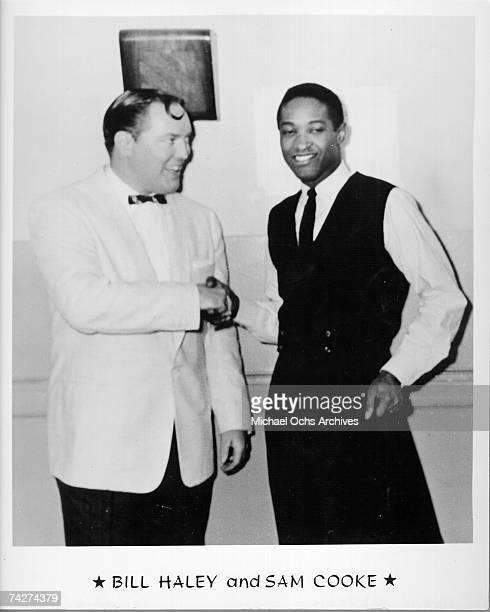 Bill Haley and Sam Cooke pose for a portrait circa 1960