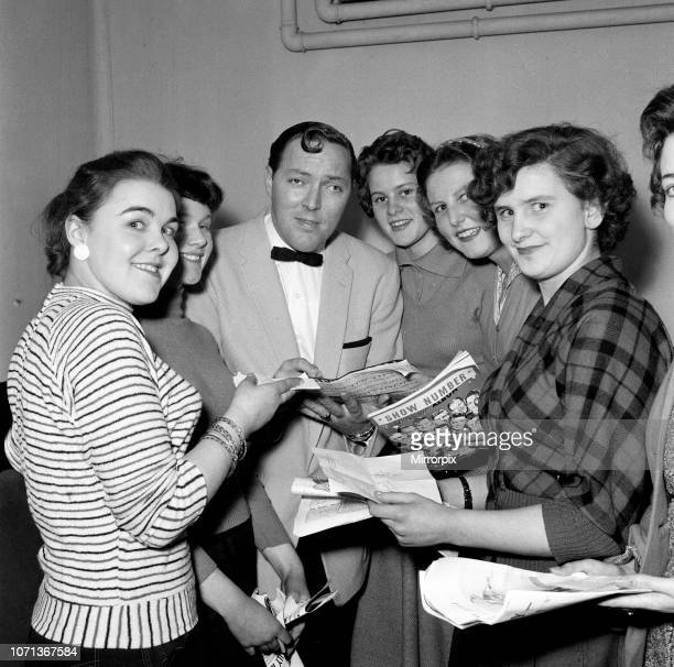 Bill Haley in his dressing room at the Dominion Theatre, Tottenham Court Road, wth his fans. Six thousand people gave rock 'n' roll king Bill Haley a...