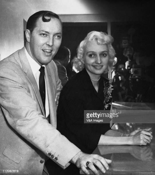 Bill Haley posed with wife Barbara Joan Cupchak February 1957