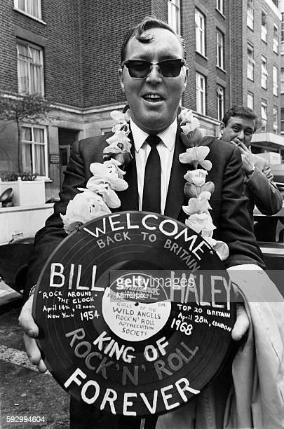 Bill Haley seen here on his arrival from the states for nationwide tour April 1968 P007014