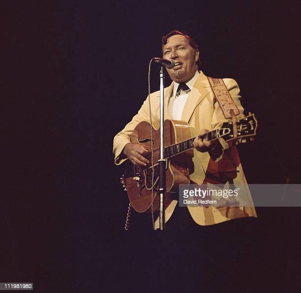 Bill Haley US rock and roll musician performs on stage at the London Rock 'n' Roll Show held at Wembley Stadium London England Great Britain 5 August...