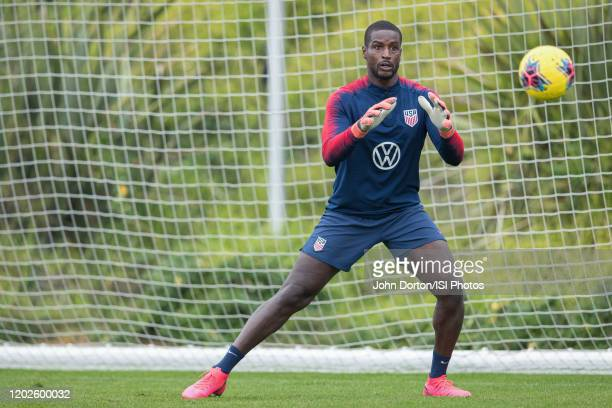Bill Hamid of the United States makes the save at Dignity Health Sports Park on January 26 2020 in Carson California