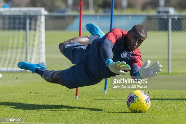 Bill Hamid of the United States makes the save at IMG Academy on January 16 2020 in Bradenton Florida