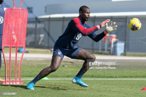 Bill Hamid of the United States warms up during a drill at IMG Academy on January 20 2020 in Bradenton Florida