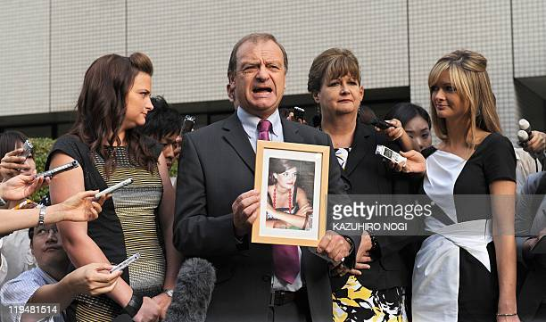 Bill Hawker father of slain 22yearold British teacher Lindsay Ann Hawker accompanied by Lindsay's mother Julia and their two daughters Lisa and...